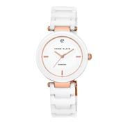 【中亞Prime會員】Anne Klein AK/N1018RGWT 女士白色時尚陶瓷手表