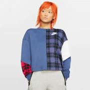 【3件8折】Nike Sportswear 拼接撞色休閑衛衣