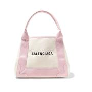 BALENCIAGA Cabas XS AJ 皮革邊飾印花帆布手提包