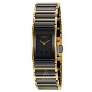 近期好價!Rado 雷達表 Integral 系列 黑金配色女士氣質腕表 R20789162