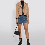 AllSaints 麂皮機車夾克外套