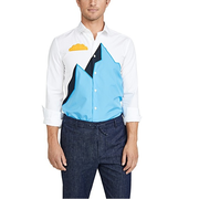 領取優惠碼再享8折!Kenzo 修身刺繡長袖系扣襯衫