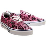 Vans 萬斯 Era 粉紅色印花低幫帆布鞋