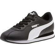 Puma 彪馬 Turin II 大童款黑色皮面運動鞋