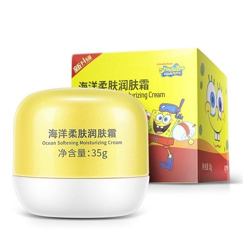【返利21.81%】cty 海綿寶寶柔膚潤膚霜 35g*3罐