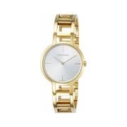 好價!Calvin Klein 卡爾文·克萊因 Cheers 系列 金色女士時裝腕表 K8N23546