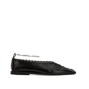 JIL SANDER 10毫米縫線皮革平底鞋