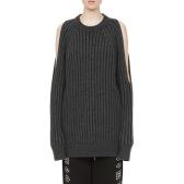 McQ 露肩設計羊毛針織毛衣