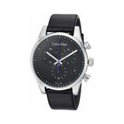 Calvin Klein 卡爾文·克萊因 Steadfast 系列 銀黑色男士三眼計時腕表 K8S271C1
