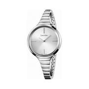 好價!Calvin Klein 卡爾文·克萊因 Lively 系列 銀色女士時裝腕表 K4U23126