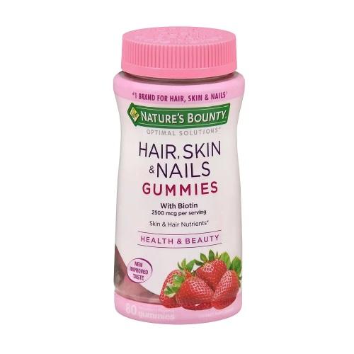 【買1送1+額外8.5折】Nature's Bounty 自然之寶 護發、護膚、護甲維生素軟糖 草莓味 80粒