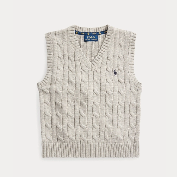 Ralph Lauren 拉夫勞倫 Cable-Knit Cotton 2-7歲針織背心