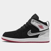 """【限時高返7.5%】喬丹 Air Jordan 1 Mid 中童款籃球鞋 黑銀 <b style=""""color:#ff7e00"""">$65(約452元)</b>"""