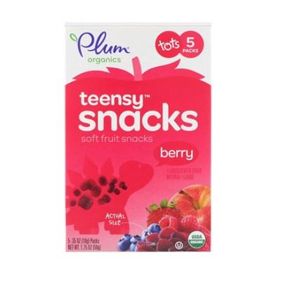 【滿$20包郵包稅】Plum Organics Teensy 有機水果片 漿果味 12個月+ 10g*5包