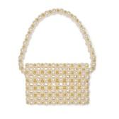 VANINA Reveries 人造珍珠金色串珠單肩包