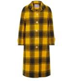 ALEXA CHUNG 大廓形格紋羊毛外套