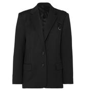 COMMISSION Purse 鏈條綴飾斜紋布西裝外套