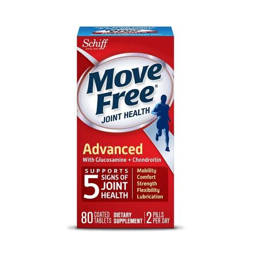 【買1送1+滿額減$10】紅盒!Schiff Move Free 維骨力 三重氨基葡萄糖軟骨素 80粒