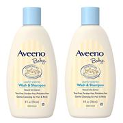 【中亞Prime會員】Aveeno 寶寶洗發水沐浴露二合一 無淚配方 淡香型 532ml*2瓶