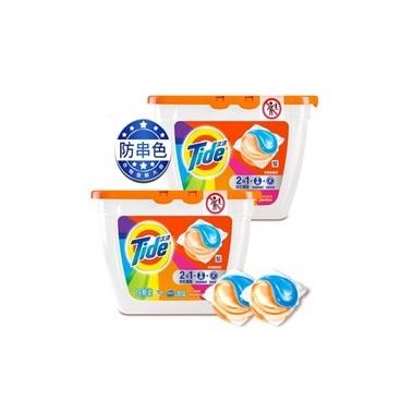 【返利10.8%】Tide 汰漬 護色防串色洗衣凝珠 19粒*4瓶