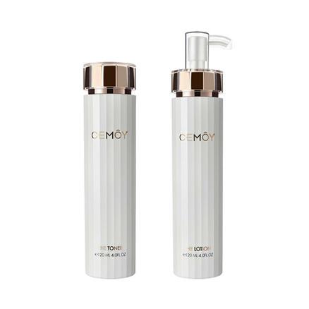 【包郵套裝】平價CPB!CEMOY 安瓶白金流明 肌底修護精華水乳套裝