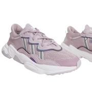 adidas Originals Ozweego 粉紫色女士老爹鞋