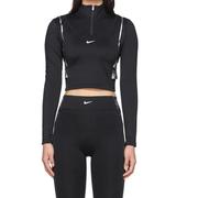 Nike 黑色緊身反光露腰運動衣