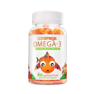 【3件0稅免郵】Coromega 歐米茄-3 小熊水果軟糖 60粒