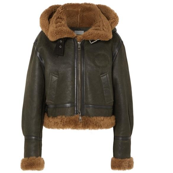 CHLOé 連帽羊毛皮短款夾克