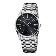 近期好價!Calvin Klein 卡爾文·克雷恩 Time 系列 銀黑色男士時裝腕表 K4N23141
