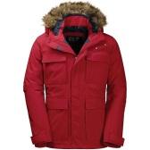 【滿$79減$10】剩大碼~Jack Wolfskin 狼爪 Point Barrow 男款保暖派克大衣 紅色