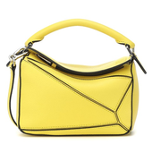 LOEWE Puzzle 鵝黃色迷你包包