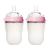 Comotomo 可么多么 粉色嬰兒硅膠奶瓶 250ml 2只裝