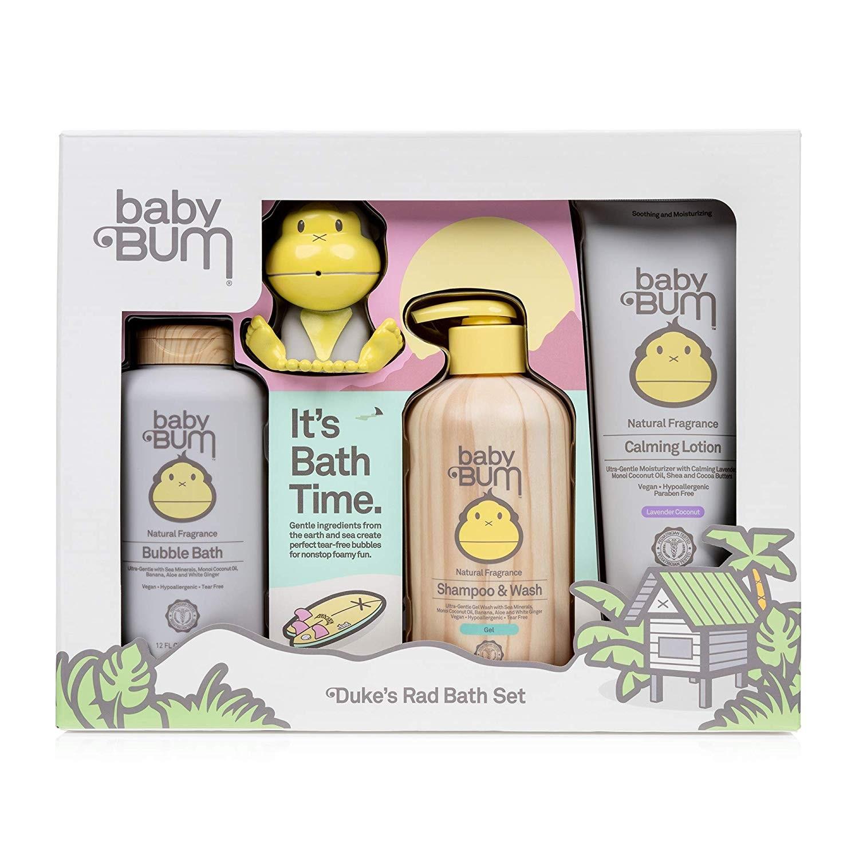 【中亞Prime會員】Baby Bum 兒童無淚低敏洗發露沐浴露二合一+泡泡沐浴液+潤膚霜+玩具4件套套裝