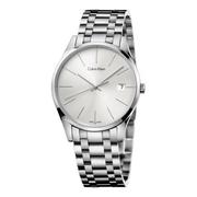好價!Calvin Klein 卡爾文·克萊因 Time 系列 銀色男士時裝腕表 K4N23146