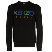 KENZO logo刺繡毛衣
