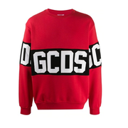 GCDS logo印花男士套頭衫