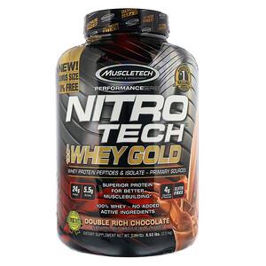 【1件0稅免郵】新人立減$11!Muscletech 肌肉科技 乳清蛋白質粉 巧克力味 2.51kg