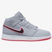 【額外8折】喬丹 Air Jordan 1 Mid 大童款籃球鞋 灰粉