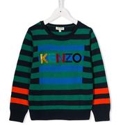 KENZO KIDS logo條紋童款毛衣