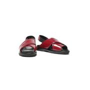 2.5折!Marni Leather slingback sandals 露跟涼鞋