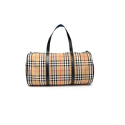 Burberry 博柏利 Leather-trimmed checked 格紋旅行袋