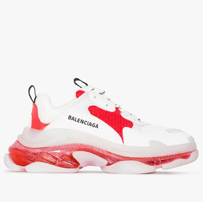 38及以上有貨~Balenciaga Triple S 女款白色老爹鞋