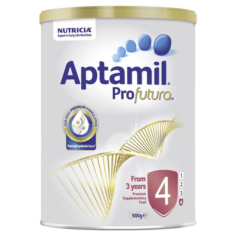 【55專享】Aptamil 愛他美白金嬰幼兒配方奶粉 4段 900g