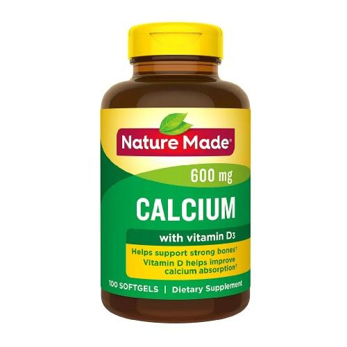 【買1送1+額外8.5折】Nature Made 萊萃美 鈣+維生素D3 軟膠囊 100粒