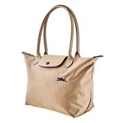 【55專享】Longchamp 瓏驤 Le Pliage 卡其米色托特包 S號