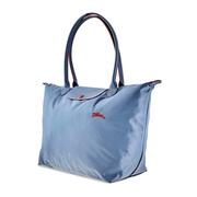【55專享】Longchamp 瓏驤 Le Pliage 霧藍色托特包