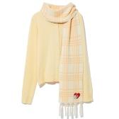 CCAABB STAY PANGAH! 聯乘系列主題刺繡圍巾配邊飾開衫