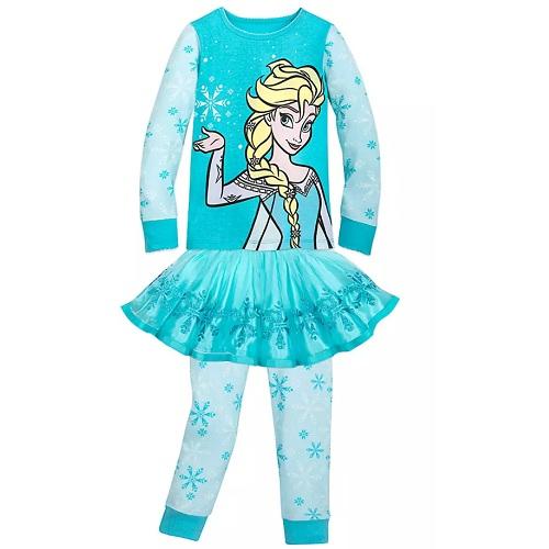 補貨!Disney 迪士尼 冰雪奇緣 艾莎女孩睡衣套裝