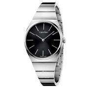 近期好價!Calvin Klein 卡爾文·克雷恩 Supreme 系列 銀黑色女士時裝腕表 K6C2X141